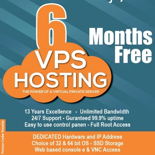 6 Months Free VPS www.theemailshop.co.uk