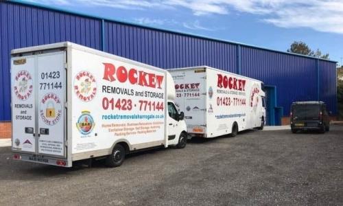Lorries Outside A Warehouse