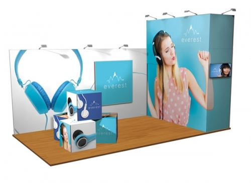 3m x 6m Exhibition Display Stand with TV Screen