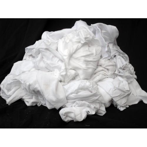 White Cotton Stockinette Wipes 10kg