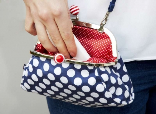 Sophie Spotty Bag in Navy Blue