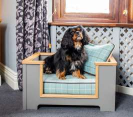 The Frank Handmade Dog Bed. Available in your colour choice and sizes Small, Medium and Large