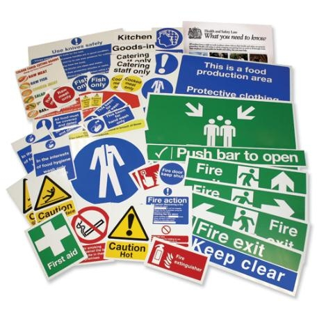 Health and Safety HSE compliant signage and accesories