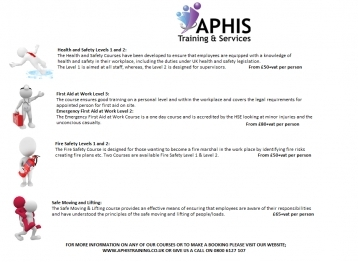 Aphis Safety Courses