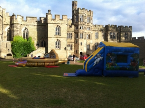 Cartoon Bounce and Slide and Gladiator Duel at Warwick Castle