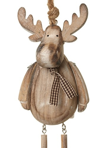 Brown Hanging Wooden Reindeer