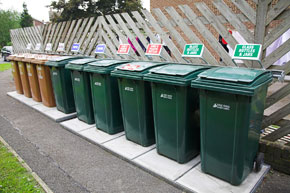 Waste & Recycling bins from 240 litre - 1100 litre bins provided